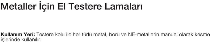 EL TESTERE LAMALARI-MTE