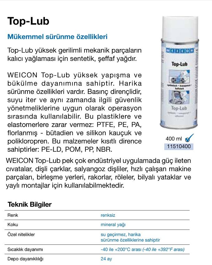 Top-Lub Sıvı Gres - Weicon