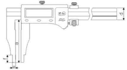Tek Çene Dijital Kumpas ABS IP66 - Yamer