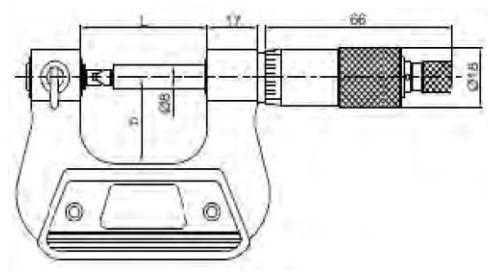 Vidaların Bölüm Dairesi Çap Ölçümü için Mikrometreler - Yamer