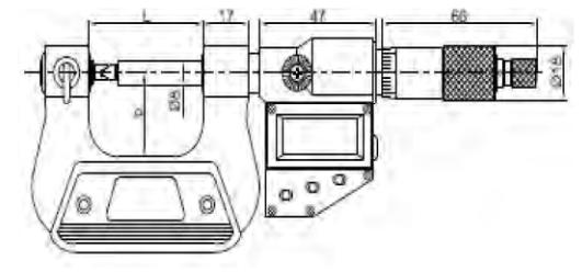 Vidaların Bölüm Dairesi Çap Ölçümü için Dijital Mikrometreler IP65 - Yamer