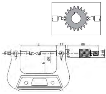 Dişli Bölüm Dairesi Çapı Ölçüm Mikrometreleri - Yamer