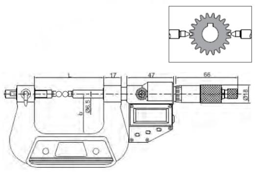 Dişli Bölüm Dairesi Çapı Ölçüm Dijital Mikrometreleri IP65 - Yamer