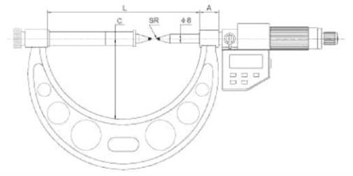 Dişli Diş Dibi Çapı Ölçüm Dijital Mikrometresi IP65 - Yamer