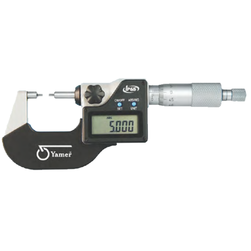 Küçük Ölçüm Yüzeyli Dijital Mikrometreler IP65 - Yamer