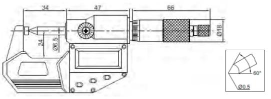 Özel Ölçme Çeneli Dijital Mikrometreler ABS IP65 - Yamer