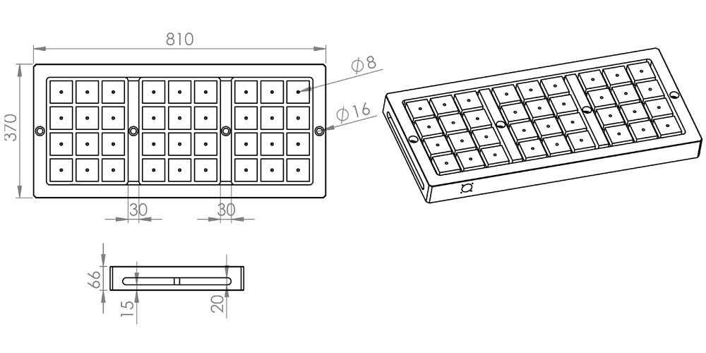 Manyetik Tabla 400x800
