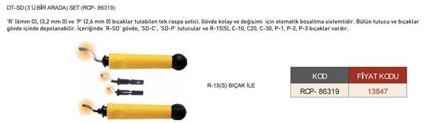 ÇAPAK ALMA RASPASI DT-SD (3'Ü BİR ARADA) SET (RCP- 86319) CP GRAT-EX
