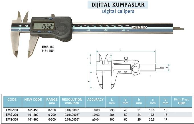 Dijital Kumpas KANON 161-xxx