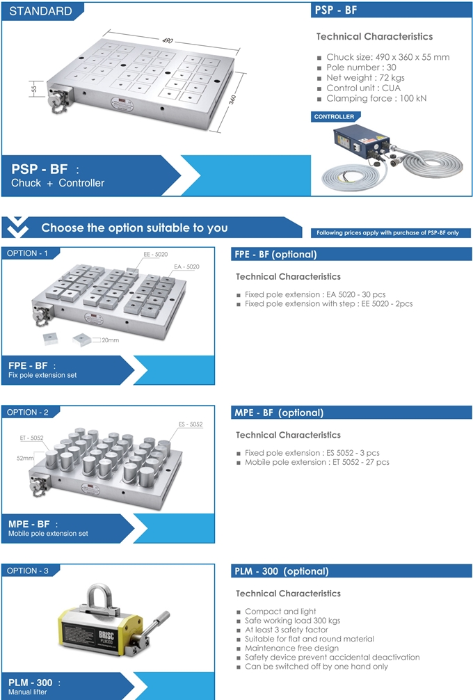 Manyetik Tabla PSP-BF Brisc
