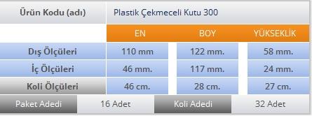 PLASTİK ÇEKMECELİ KUTU 300