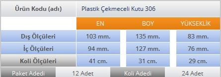 PLASTİK ÇEKMECELİ KUTU 306