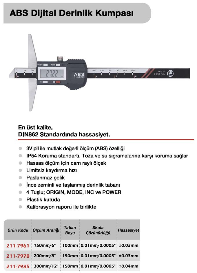 ABS Dijital Derinlik Kumpası - Werka
