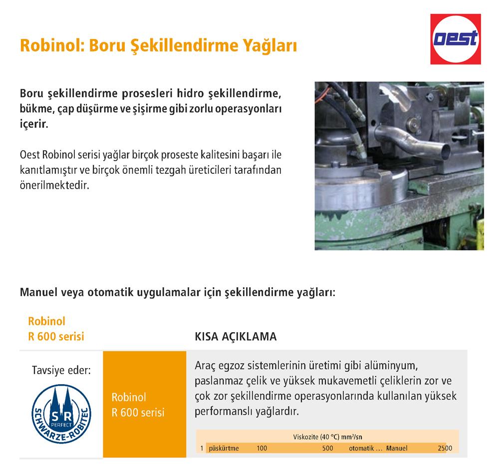 Robinol Boru Şekillendirme Yağları - OEST