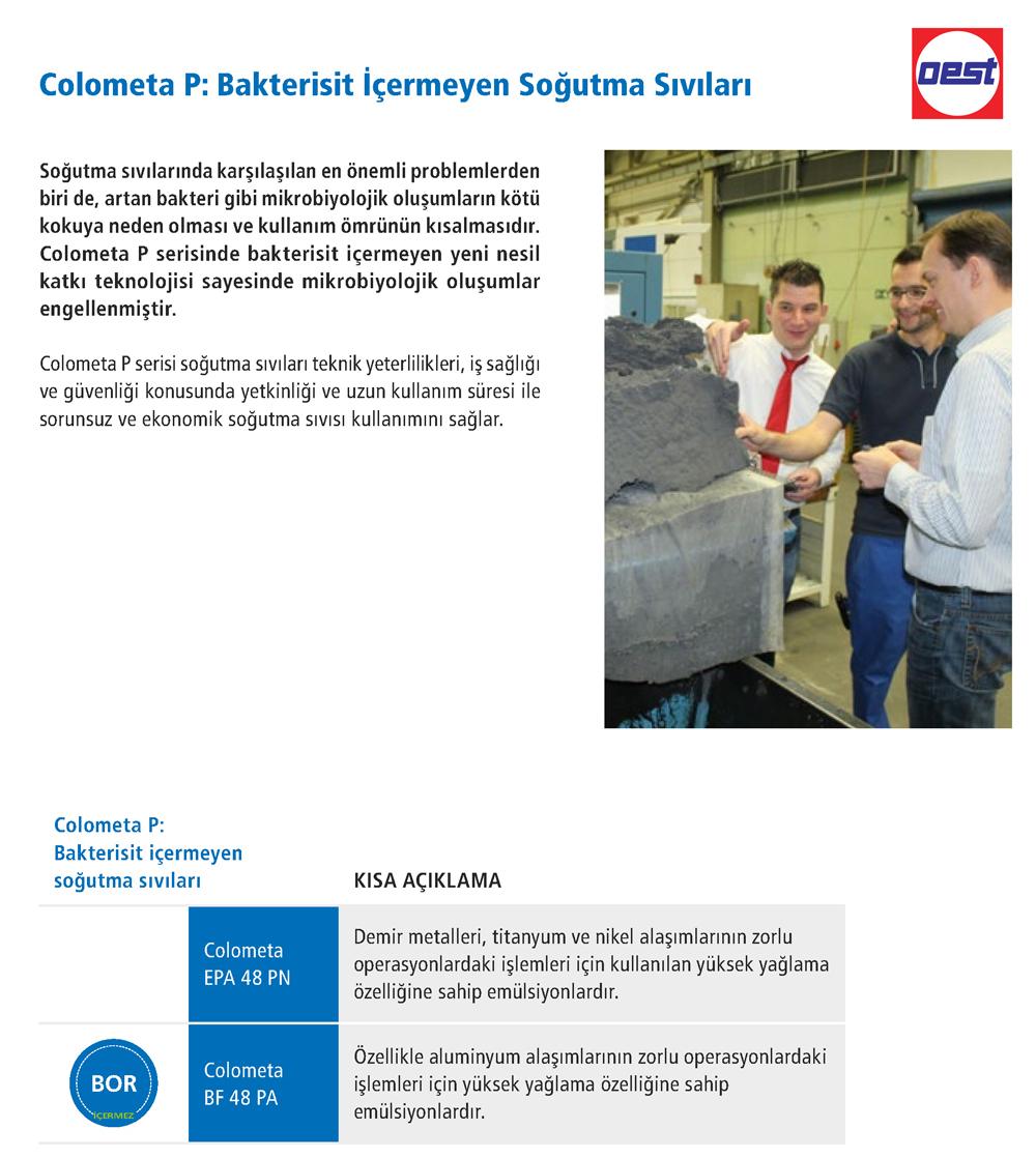 Colometa BF 48 PA Bakterisit İçermeyen Soğutma Sıvıları - OEST